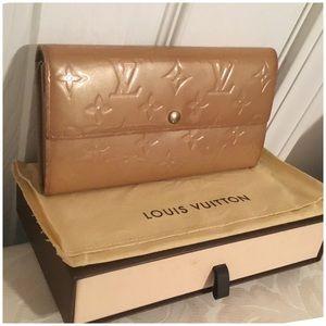 Louis Vuitton Sarah Wallet Vintage Vernis Beige